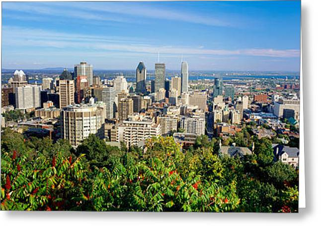 Parc Greeting Cards - High Angle View Of A Cityscape, Parc Greeting Card by Panoramic Images