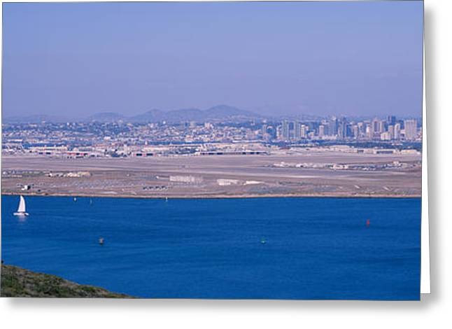Point Loma Greeting Cards - High Angle View Of A Coastline Greeting Card by Panoramic Images