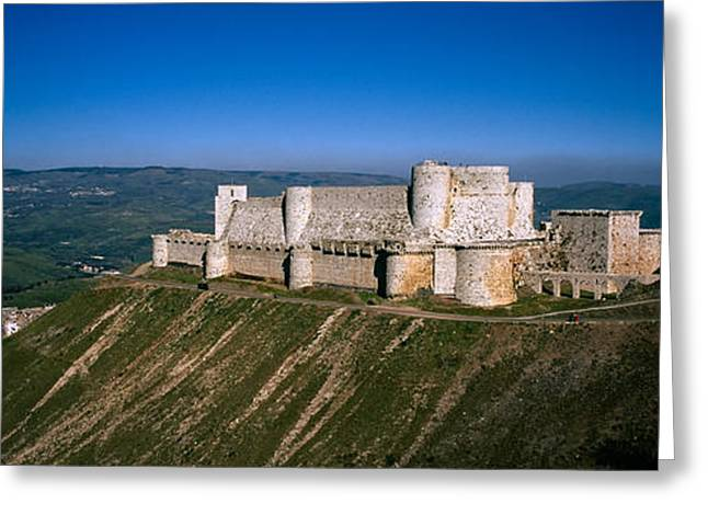 Chevalier Greeting Cards - High Angle View Of A Fort, Crac Des Greeting Card by Panoramic Images