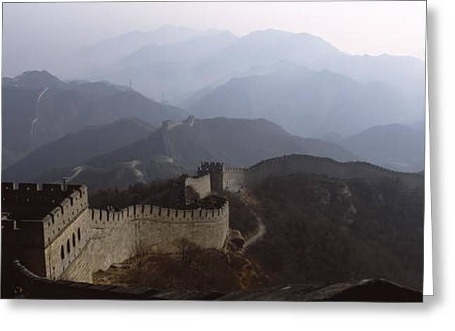 Fortified Wall Greeting Cards - High Angle View Of A Fortified Wall Greeting Card by Panoramic Images