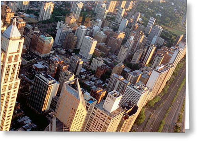 Lake Shore Drive Greeting Cards - High Angle View Of A Highway Greeting Card by Panoramic Images