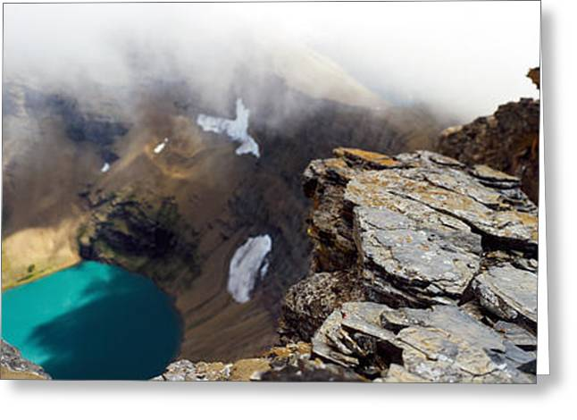 Geographical Locations Greeting Cards - High Angle View Of A Lake, Continental Greeting Card by Panoramic Images