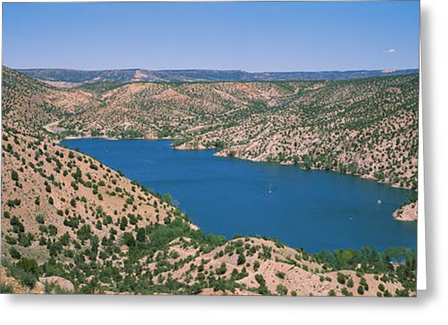 Santa Cruz Photographs Greeting Cards - High Angle View Of A Lake Surrounded Greeting Card by Panoramic Images