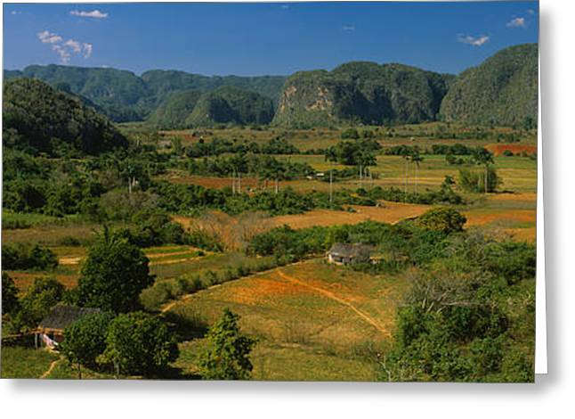 Del Rio Greeting Cards - High Angle View Of A Landscape, Valle Greeting Card by Panoramic Images