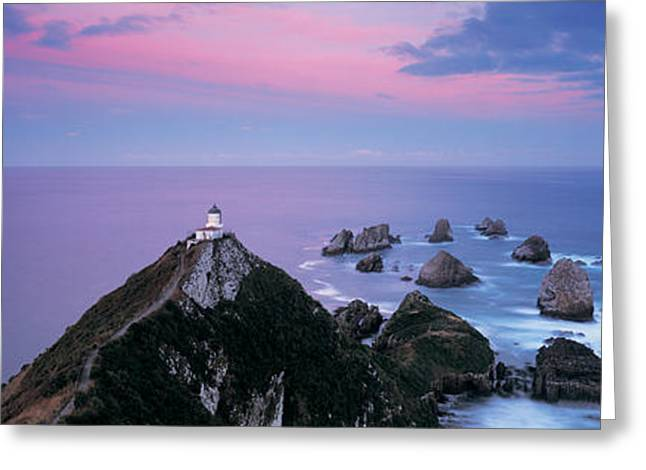 The Edge Greeting Cards - High Angle View Of A Lighthouse, Nugget Greeting Card by Panoramic Images