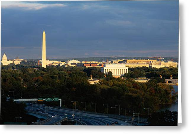Arches Memorial Photography Greeting Cards - High Angle View Of A Monument Greeting Card by Panoramic Images
