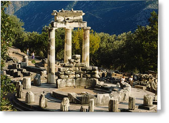 Civilization Greeting Cards - High Angle View Of A Monument, Tholos Greeting Card by Panoramic Images