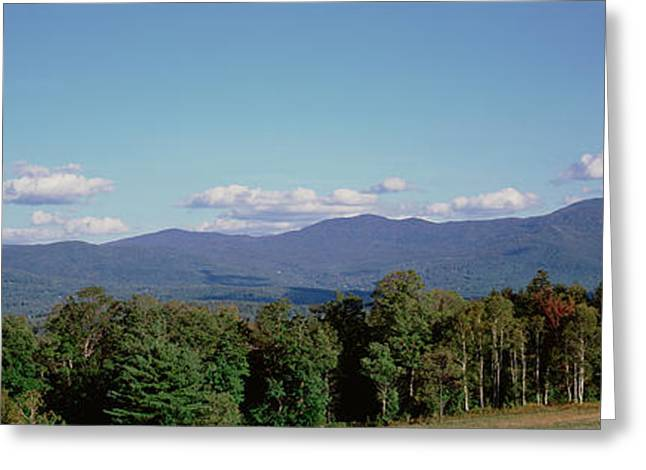 Stowe Greeting Cards - High Angle View Of A Mountain Range Greeting Card by Panoramic Images