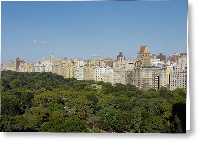 Park Scene Greeting Cards - High Angle View Of A Park, Central Greeting Card by Panoramic Images