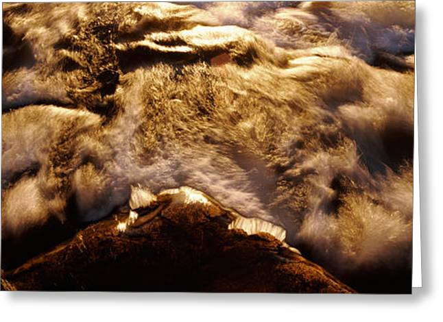 High Angle View Of A River, Us Glacier Greeting Card by Panoramic Images