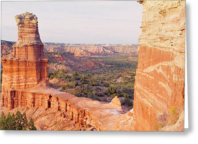 Stacked Rocks Greeting Cards - High Angle View Of A Rock Formation Greeting Card by Panoramic Images