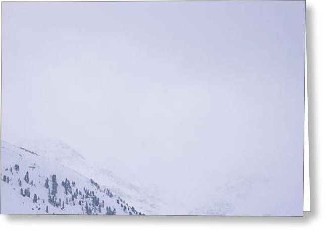 Weekend Photographs Greeting Cards - High Angle View Of A Ski Resort Greeting Card by Panoramic Images