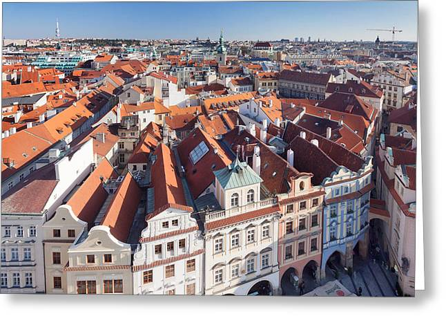 High Angle View Of A Town, Old Town Greeting Card by Panoramic Images