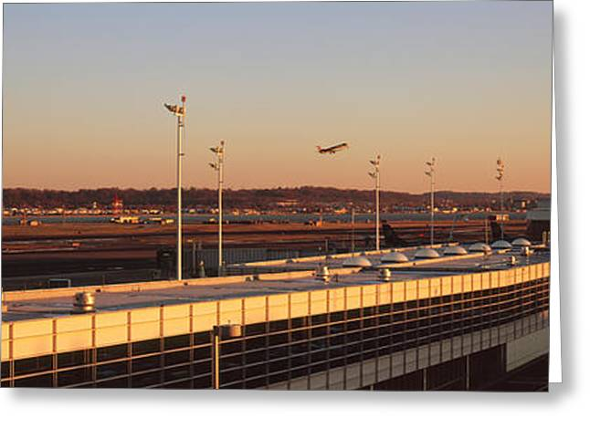 Ronald Reagan Greeting Cards - High Angle View Of An Airport, Ronald Greeting Card by Panoramic Images