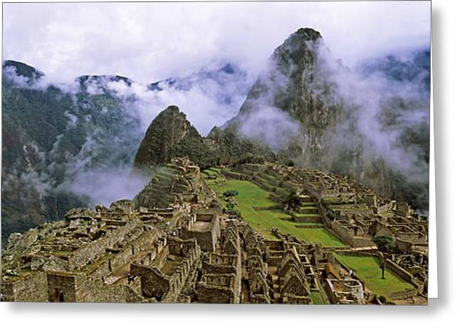 Civilization Greeting Cards - High Angle View Of An Archaeological Greeting Card by Panoramic Images