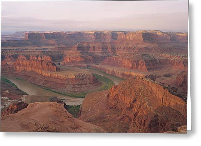 Arid Landscapes Greeting Cards - High Angle View Of An Arid Landscape Greeting Card by Panoramic Images