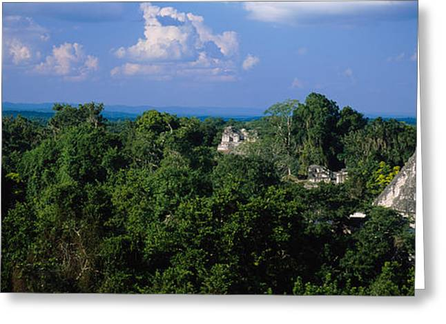 Civilization Greeting Cards - High Angle View Of An Old Temple Greeting Card by Panoramic Images