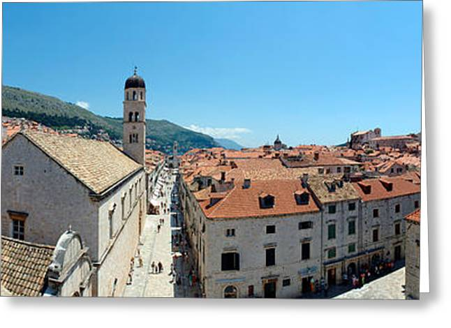 Former Greeting Cards - High Angle View Of Buildings, Minceta Greeting Card by Panoramic Images