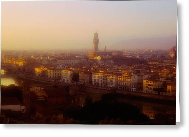 Florence Greeting Cards - High Angle View Of Florence, Italy Greeting Card by Panoramic Images