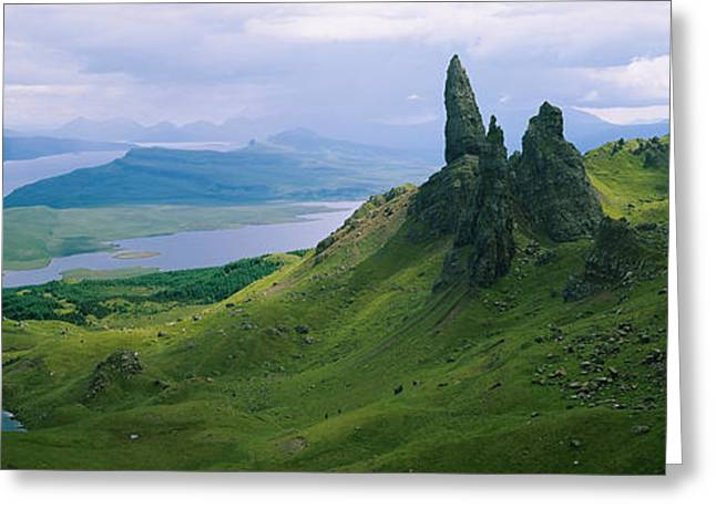 Overcast Day Greeting Cards - High Angle View Of Rock Formations Greeting Card by Panoramic Images
