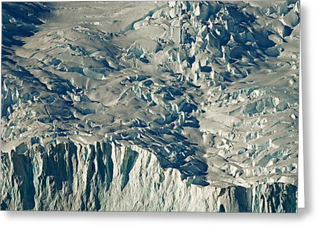 Temperature Greeting Cards - High Angle View Of Snow Covered Greeting Card by Panoramic Images