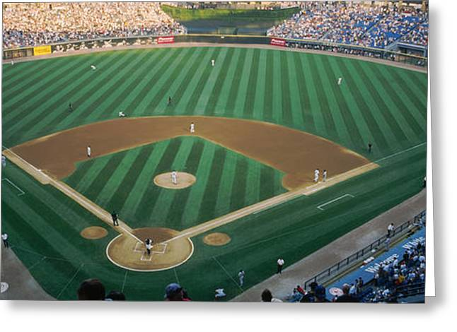 Professional Sports Greeting Cards - High Angle View Of Spectators Greeting Card by Panoramic Images