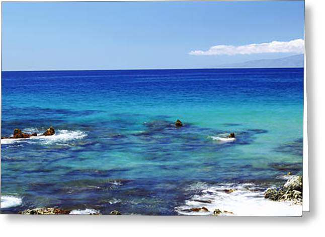 Urban Images Greeting Cards - High Angle View Of Surf At The Coast Greeting Card by Panoramic Images