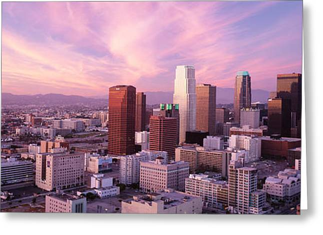 Romantic Photography Greeting Cards - High Angle View Of The City, Los Greeting Card by Panoramic Images