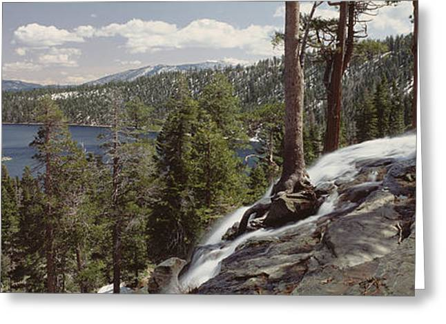 Eagle In Clouds Greeting Cards - High Angle View Of The Eagle Falls Greeting Card by Panoramic Images