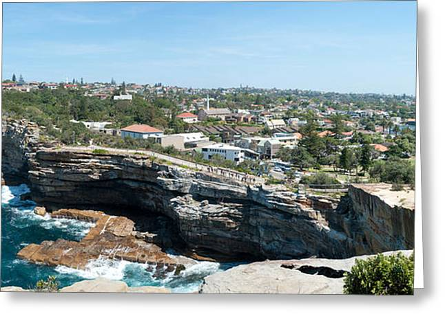 Gap Greeting Cards - High Angle View Of The Gap, Sydney Greeting Card by Panoramic Images