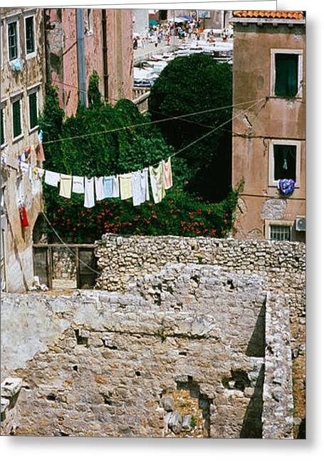 Fortified Wall Greeting Cards - High Angle View Of The Old Ruins Greeting Card by Panoramic Images