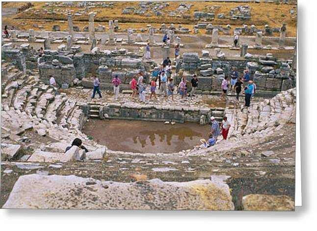 Civilization Greeting Cards - High Angle View Of Tourists In An Greeting Card by Panoramic Images