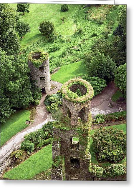 High Angle View Of Towers, Blarney Greeting Card by Miva Stock