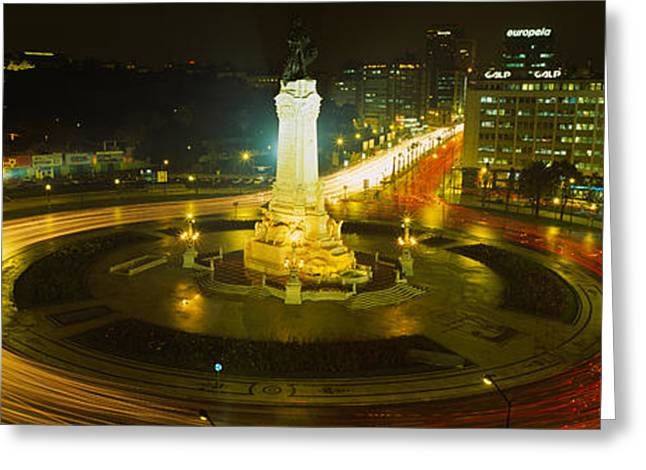 Traffic Greeting Cards - High Angle View Of Traffic Moving Greeting Card by Panoramic Images