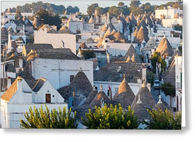Trulli Greeting Cards - High Angle View Of Trulli Houses Greeting Card by Panoramic Images