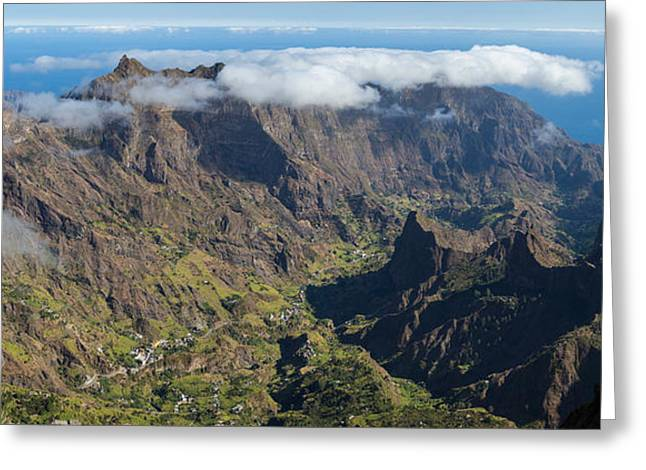 Santo Greeting Cards - High Angle View Of Valley Greeting Card by Panoramic Images