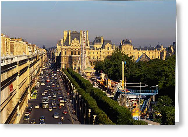 Royal Street Greeting Cards - High Angle View Of Vehicles Greeting Card by Panoramic Images