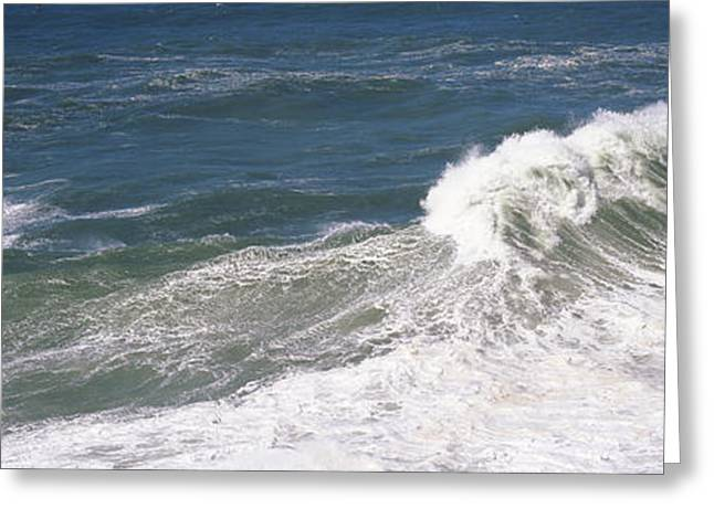 Strength Photographs Greeting Cards - High Angle View Of Waves In The Sea Greeting Card by Panoramic Images