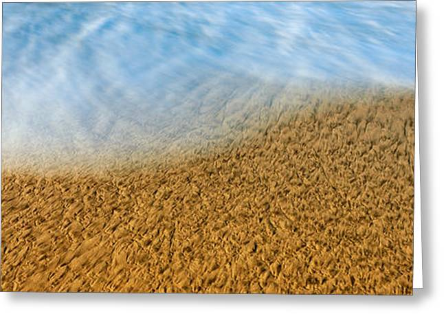California Ocean Photography Greeting Cards - High Angle View Of Waves On The Beach Greeting Card by Panoramic Images