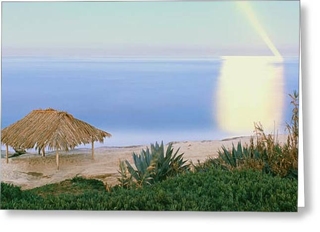 Surf Shack Greeting Cards - High Angle View Of Windansea Beach, La Greeting Card by Panoramic Images