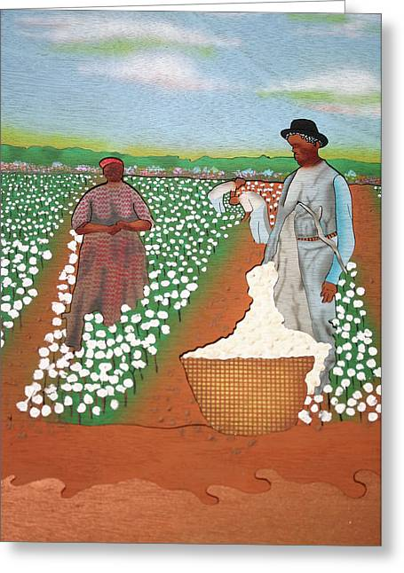 Slavery Mixed Media Greeting Cards - High Cotton Greeting Card by Fred Gardner