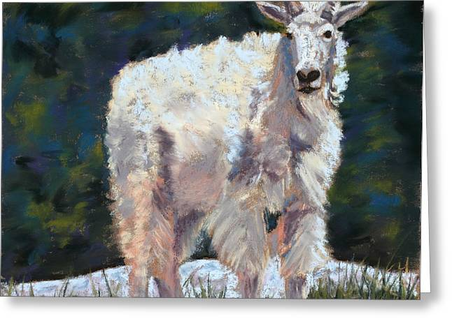 Adult Pastels Greeting Cards - High Country Friend Greeting Card by Mary Benke