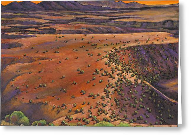 Santa Fe Desert Greeting Cards - High Desert Evening Greeting Card by Johnathan Harris