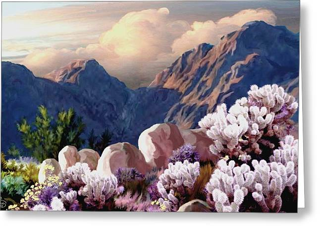 High Desert Sunrise Greeting Card by Ron Chambers