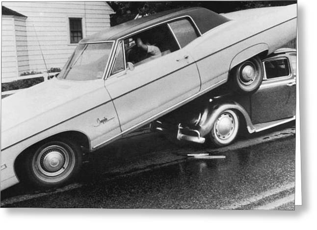 High End Auto Accident Greeting Card by Underwood Archives