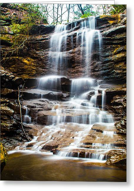 Unique Art Greeting Cards - High Falls at Moss Rock Preserve Greeting Card by Parker Cunningham