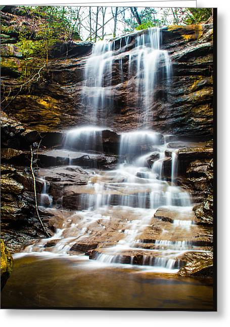 Moss Greeting Cards - High Falls at Moss Rock Preserve Greeting Card by Parker Cunningham