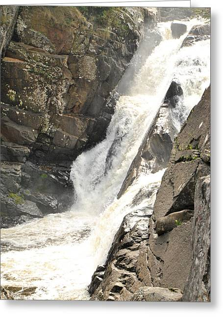 High Falls Gorge Greeting Cards - High Falls Gorge - B Greeting Card by Wayne Sheeler