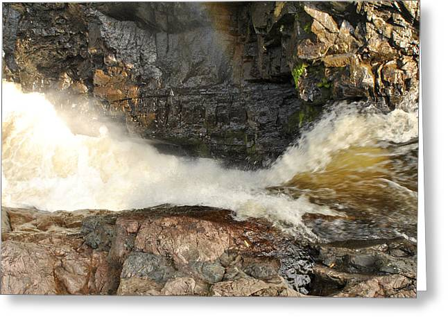 High Falls Gorge Greeting Cards - High Falls Gorge - F Greeting Card by Wayne Sheeler