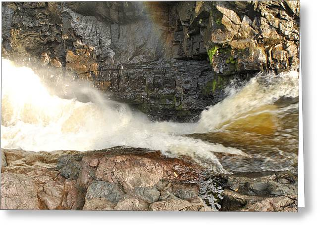 High Falls Gorge Greeting Cards - High Falls Gorge - G Greeting Card by Wayne Sheeler